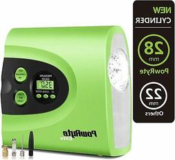 PowRyte Digital Tire Inflator with 12VDC,Portable Air Compre