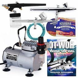 PointZero Airbrush Dual Action Airbrush Kit with 3 Guns