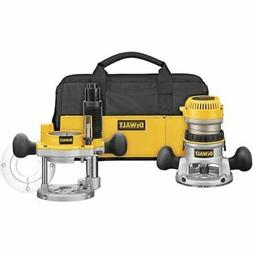 DEWALT DW618PKB 2-1/4 HP EVS Fixed Base/Plunge Router Combo