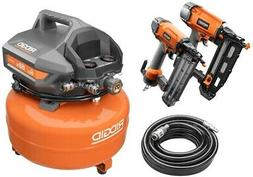 Electric Air Compressor 6 Gal Combo Kit 18 Gauge Brad and 16