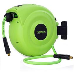 PowRyte Elite Retractable Air Hose Reel with 3/8-Inch by 50-
