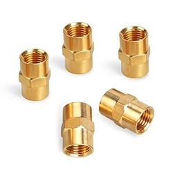 PowRyte Elite Solid Brass Fiting, Female Coupling Set - 1/4-