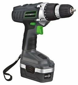 Genesis GCD18BK 18v Cordless Drill/Driver Kit, Grey, 3/8-inc