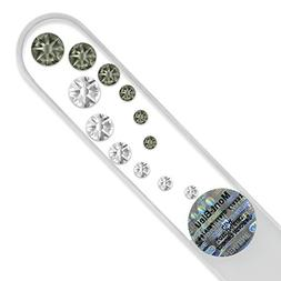 Medium Size Glass Nail File Hand Decorated with Swarovski El