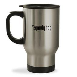 got plunge? - 14oz Sturdy Stainless Steel Travel Mug, Silver