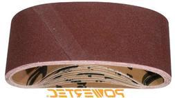 """POWERTEC 110810 80 Grit Aluminum Oxide Sanding Belts , 3"""" x"""