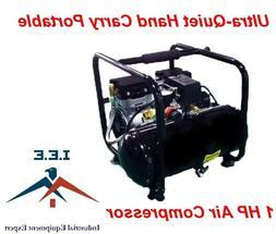 Hand Carry Portable 1HP Air Compressor Ultra Quiet 115 Volt