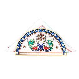 APKAMART Hand Crafted Marble Napkin Stand & Tissue Holder -