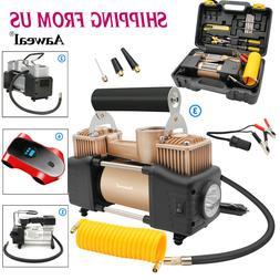 HEAVY DUTY 12V Portable Car Air Compressor Tire Inflator Aut