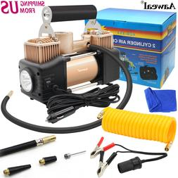 HEAVY DUTY Portable Air Compressor Car Tire Pump Inflator Au