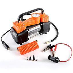 Heavy Duty Dual Cylinder Portable Air Compressor Pump:12V El