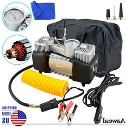 HEAVY DUTY Portable Car Air Compressor Tire Pump Inflator Au