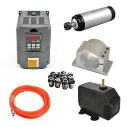 Hot 110V 2.2KW Water-cooled Spindle Motor+HY Inverter+Pump+P