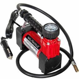SuperFlow Portable Air Pump, 12 volt Air Compressor, Tire In