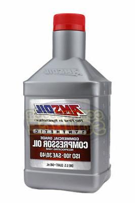 1 Quart Qt. Amsoil Synthetic Air Compressor Oil ISO-100 Comm