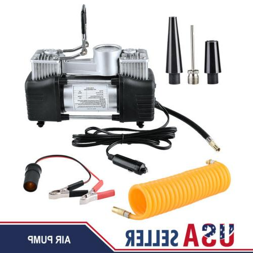 12V 150PSI Double Cylinder Air Pump Compressor Car Tire Tyre