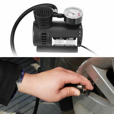 12V 300PSI Portable Mini Air Compressor Auto Car Electric Ti