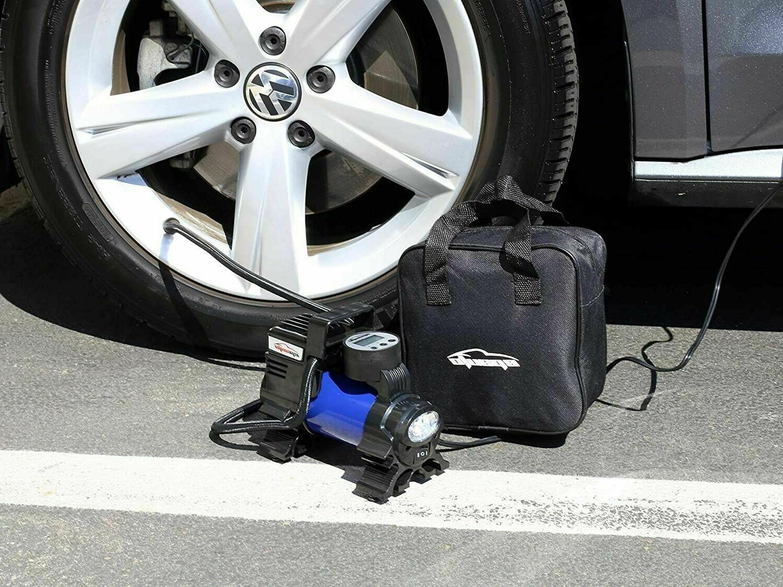 12v dc portable air compressor digital tire