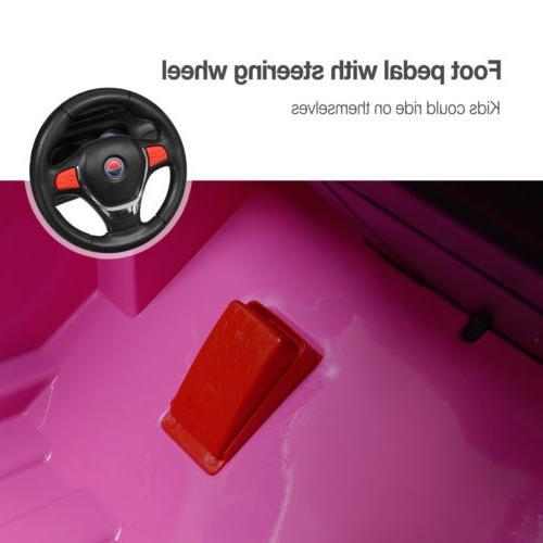 12V Kids Ride Car Electric Remote Control Pink