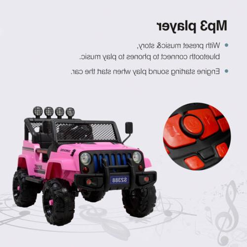 12V Kids on Car Jeep Electric w/ Remote Control