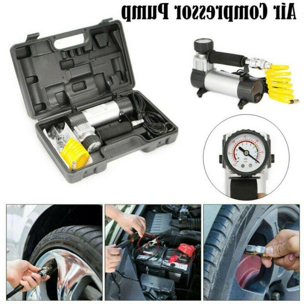 12v portable air compressor auto tire electric