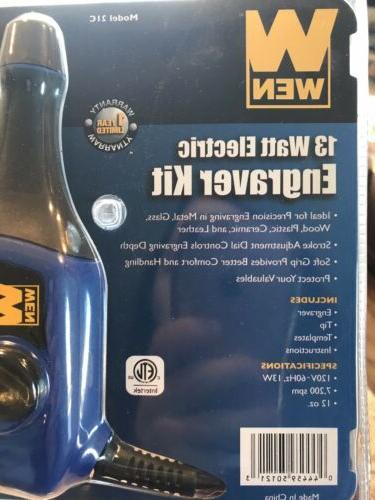 13 Electric In Engraver Kit Wen. In