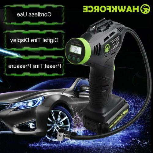 18v cordless tire inflator portable recharge li