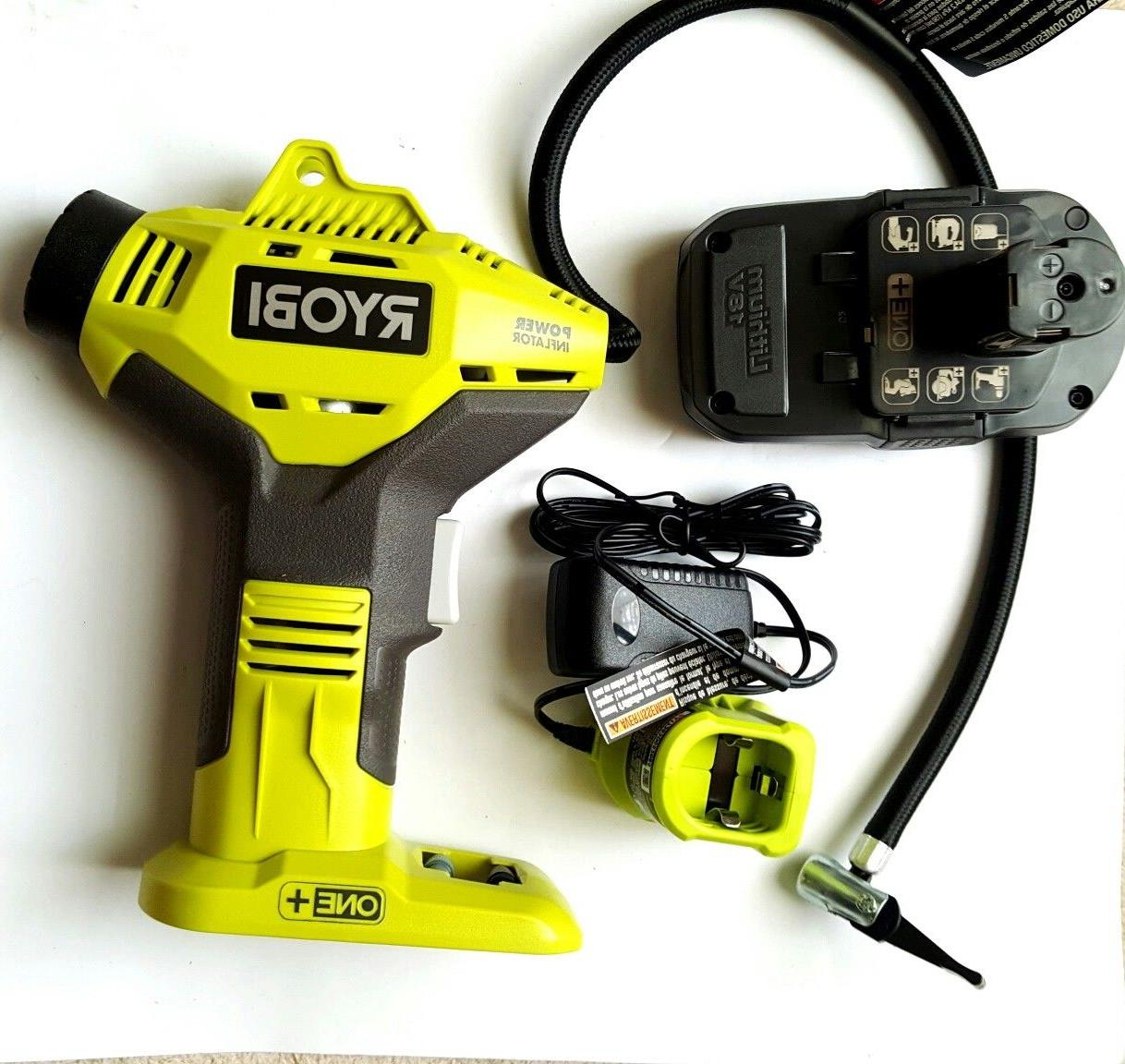 Ryobi 18V Portable Li-Ion Air Compressor Tire Inflator, Batt