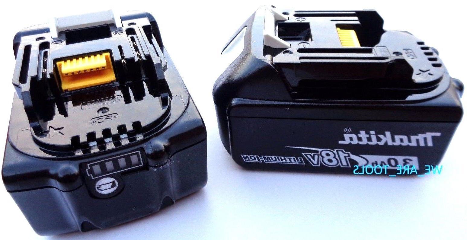 2 NEW 18V GENUINE BL1830B-2 Makita Batteries 3.0 AH Fuel Gau