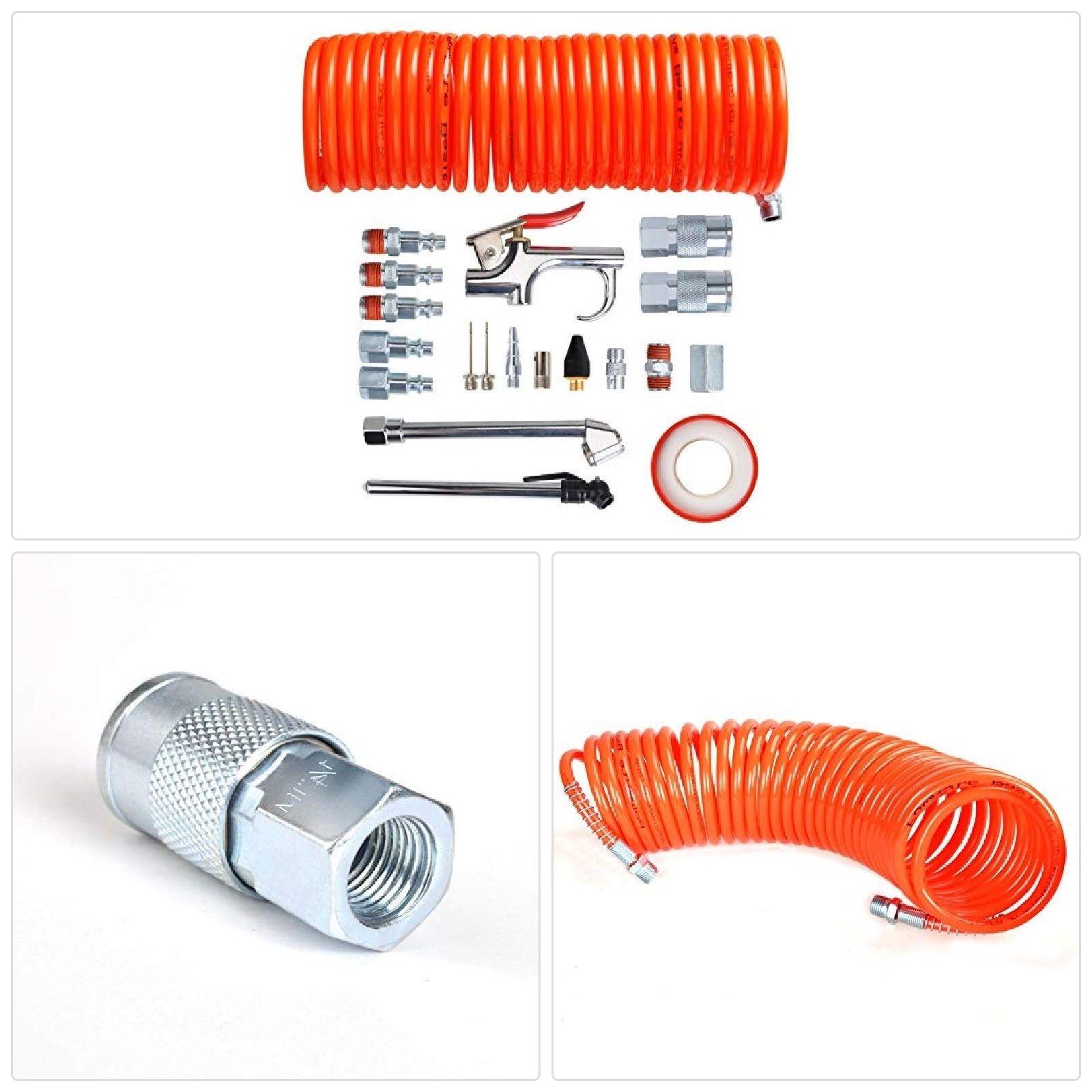 PowRyte 20-Piece Air Compressor Accessory Kit with Blow Gun