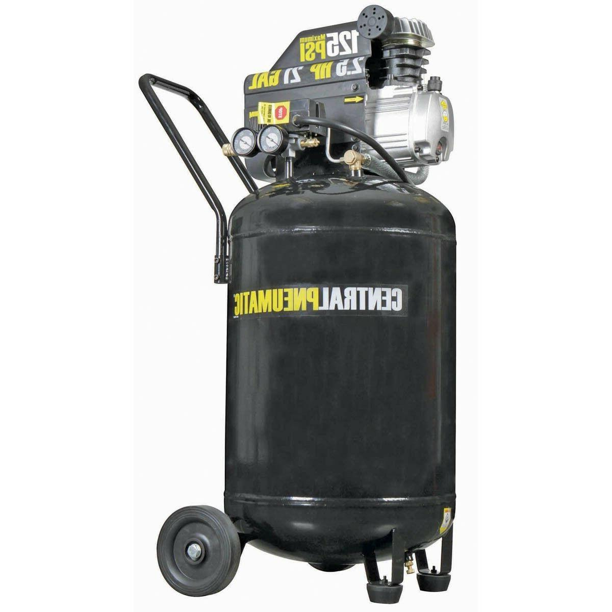 21 Gallon 125 PSI Cast Iron Vertical Air Compressor 2.5 HP M