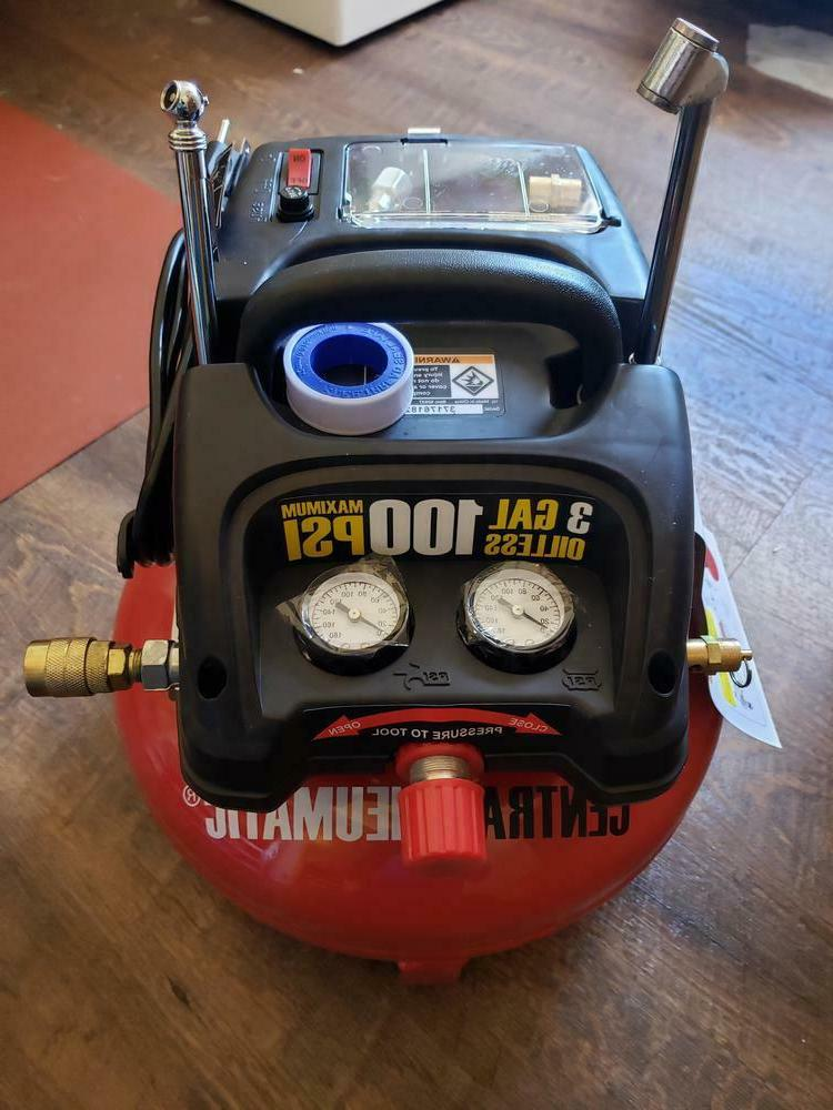 3 Gallon 100 Pancake Mini Compressor 1/3 Air Tool