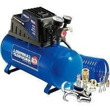 Campbell Hausfeld 3 Gallon, 110psi Air Compressor & 11pc Acc