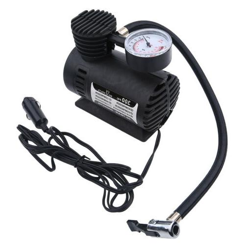 Portable Mini Air Compressor With Gauge Tire Inflator