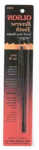 "Olson 44802 5"" Flat End Reverse Tooth Scroll Saw Blades 11.5"