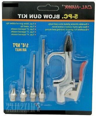 5pc air blow gun kit air compressor