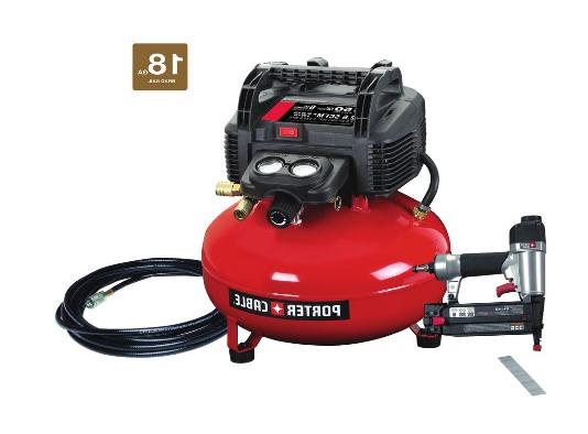 6 Gal. 150 PSI Portable Electric Air Compressor + 18-Gauge B