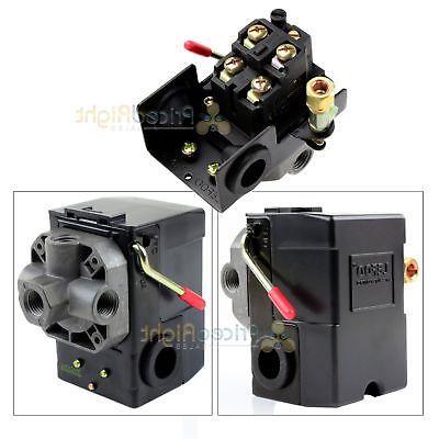 4 Port Air Compressor Pressure Switch Control Valve 95-125 P