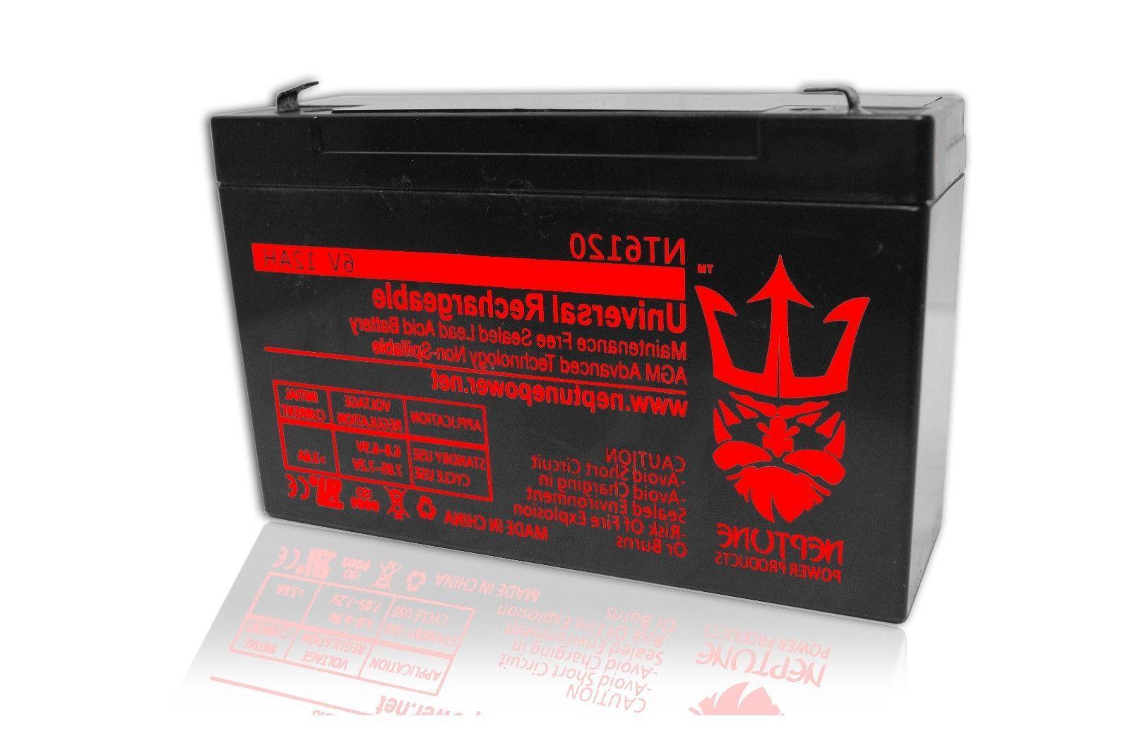 6V 12Ah 6 Volt 12 amp hour Sealed Lead Acid Battery UB6120 B