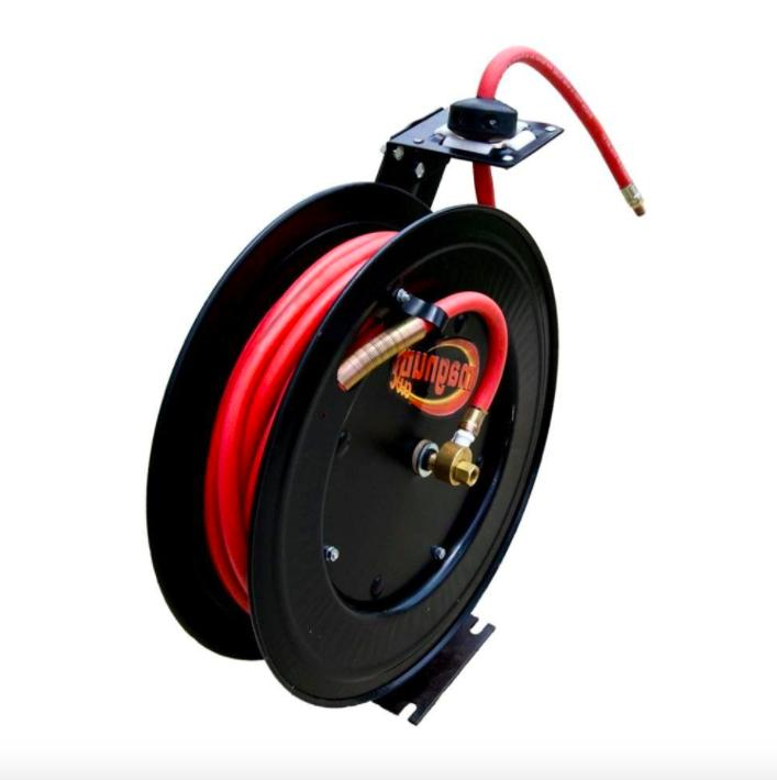 Speedway 7640 Retractable Air Hose Reel with 3/8-inch by 50
