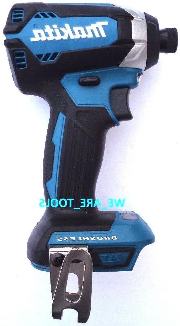 "New Makita Brushless 18V XDT13 Cordless 1/4"" Impact, Driver,"