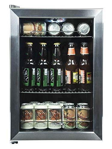 Newair - 84-can Beverage Cooler - Black/stainless Steel