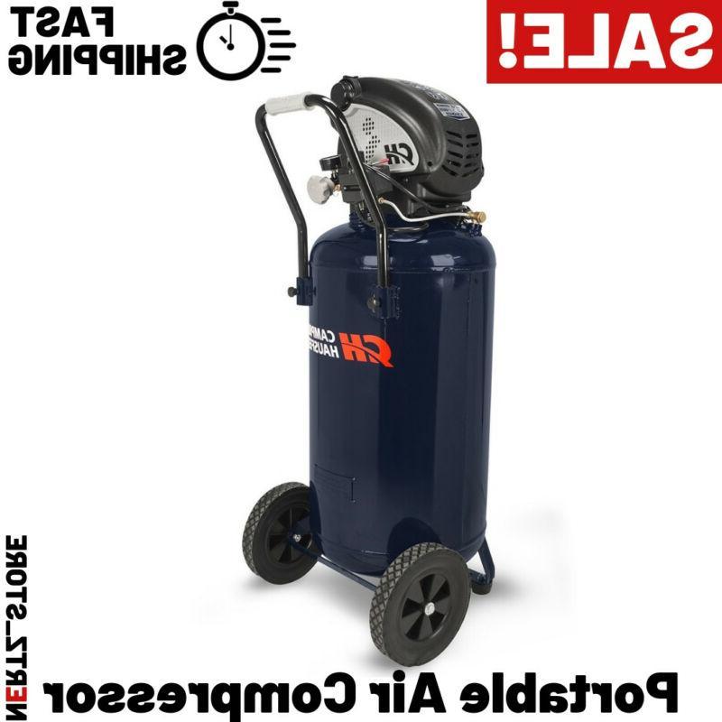 air compressor 26 gallon vertical portable oilfree
