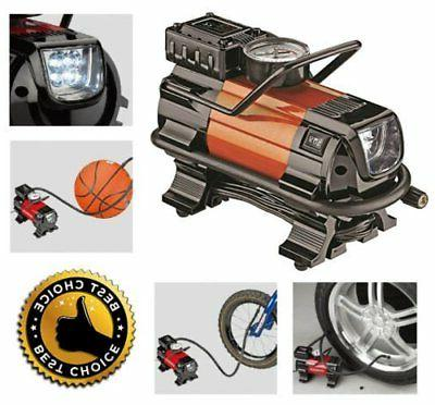 Air Compressor LED Car 12V Portable Heavy Duty Powerful Pump