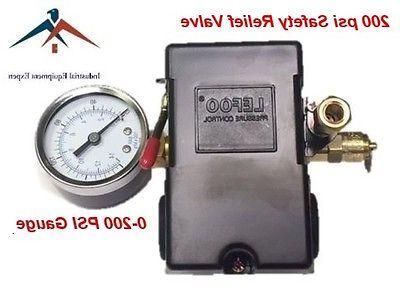 Air Compressor Pressure Control Switch 4 Port 145-175 PSI w/