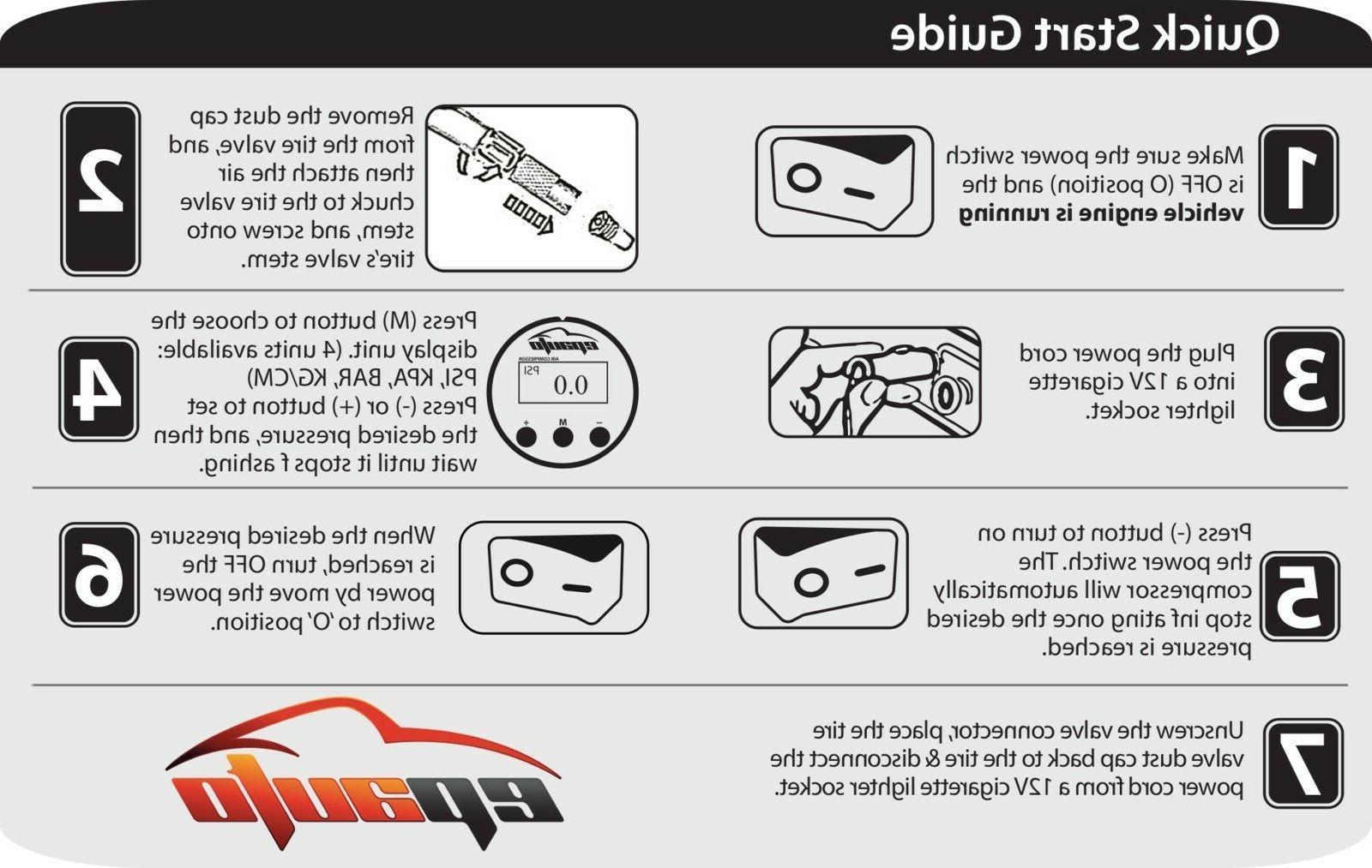 12V Air Pump Digital Flashlight For