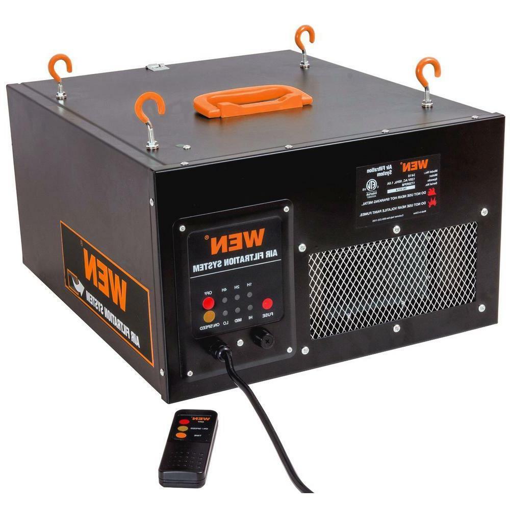 WEN Air Filtration 3-Spd Remote-Control Filter Workshop