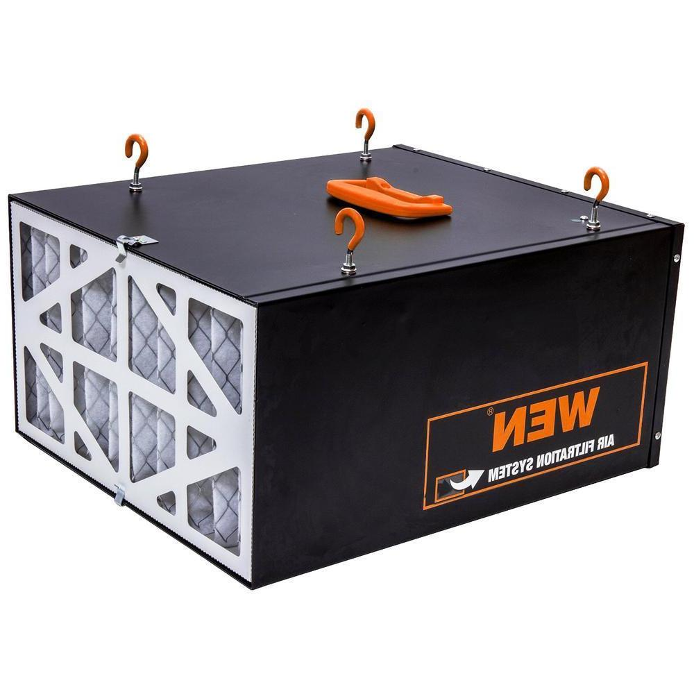 WEN Air Filtration System 3-Spd Remote-Control led Filter Dust Workshop
