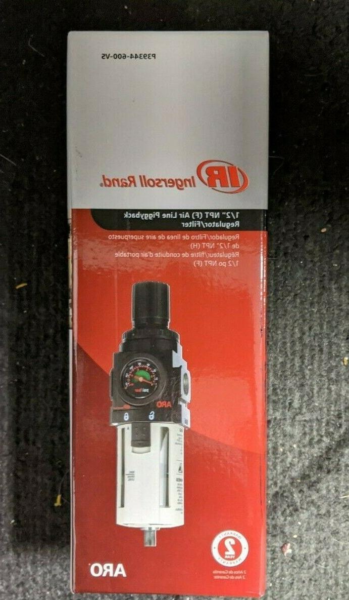"ARO P39344-600-VS Air Filter-Regulator Piggyback, 1/2"" NPT -"