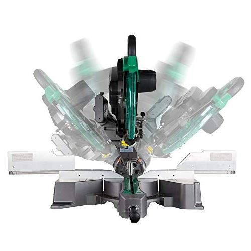 Hitachi C12RSH2 12-Inch Dual Bevel Sliding Miter Laser Marker
